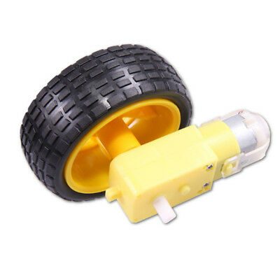 Smart Car Robot Toy Plastic Tire Wheel with DC 3V-6V Gear Motor Kit Novelty