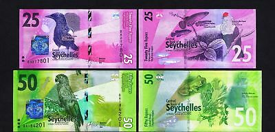 New: Seychelles Banknotes 2016 series ( 25 & ro RUPEES) P48 & P49 in  UNC