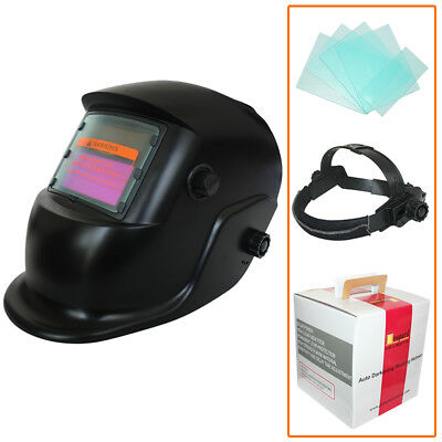 Leopard LEOWH27 Welding Helmet Welders Mask Auto Darkening Solar Powered Black
