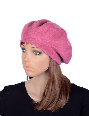 M496 Pink Women s Cute Classic Wool Acrylic Winter Beanie Hat Beret Cap Cool 066dbef84fa8
