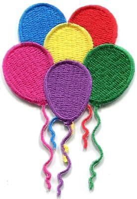 Balloons happy birthday party embroidered applique iron-on patch S-1447