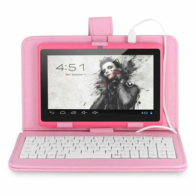7 inch PU Leather Keyboard Stand Case Cover Android Tablet with micro USB L.Pink