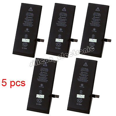 5Pcs 1960mAh Li-ion Battery Replacement With Flex Cable For Apple iPhone 7 4.7""