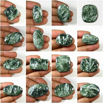 Seraphinite Cabochon Natural Green Loose Gemstone Free Shipping Variation