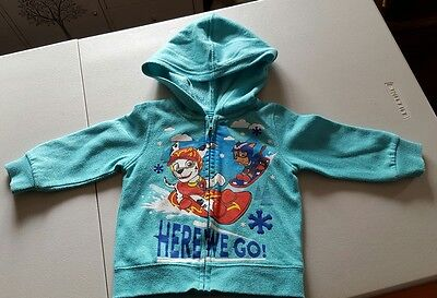 Paw Patrol Zip Up Jumper With Hood (Size 1)***great Condition...has Pilling***