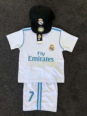 2018 NEW kids soccer jersey boy sportswear Real Madrid HOME kit set #7 Ronaldo