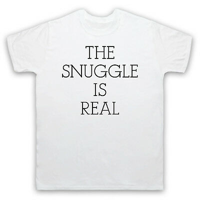 The Snuggle Is Real Cute Parody Slogan Cuddle Mens Womens Kids T-Shirt