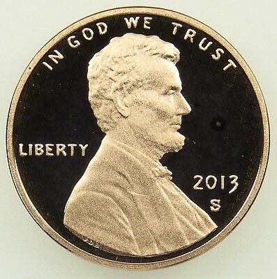 2013 S Deep Cameo Proof Lincoln Shield Cent Penny (B03)