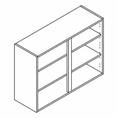 Clicbox Kitchen wall units cabinet carcass White, Grey, Anthracite