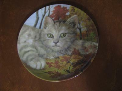 """Cat Collection Formalities by Baum Bros Forest Cat Plate 8"""""""