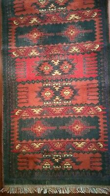 Antique French Runner Wool Rug 2,2' X 8' Turman Style French Country Colors