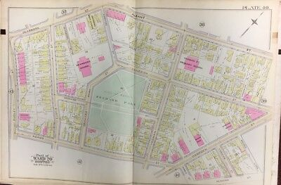 1889 G.w. Bromley, Roxbury, Boston, Ma Orchard Park, Dearborn School, Atlas Map