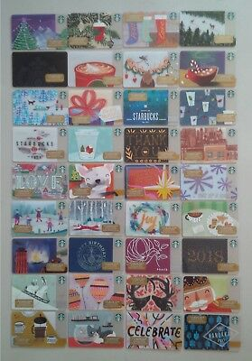 Starbucks Card 2017 Christmas Holiday Complete Set w/ SPOTIFY LIMITED EDITION