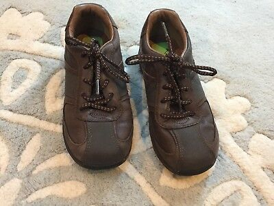 Stride Rite CHASE Brown Leather Boys Lace Up Shoes 11.5 M Excellent