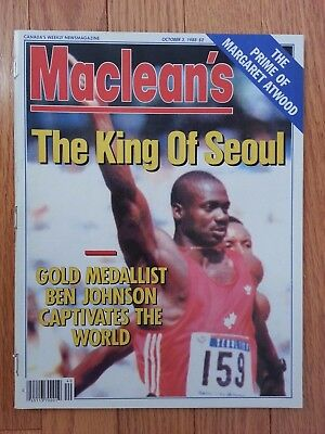 Maclean's Mag - 1988 - The King Of Seoul - Ben Johnson - Before Drug Test Result