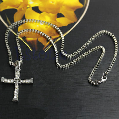Chic Cross Crystal Pendant Chain The Fast and Furious Dominic Toretto's Necklace