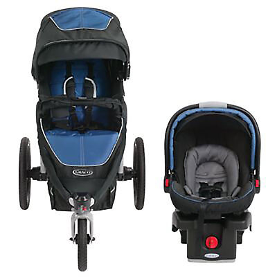 Graco Relay Sport Click Connect Stroller and Car Seat Travel System, Jaguar