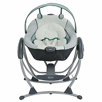 Graco Glider LX 6-Speed Removable Swing & Rocker with Music & Sounds, Albie