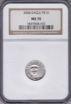 Kappyscoins 2004 Platinum $10.00 Statue Of Liberty Certified Ngc Ms70 Perfect Bu