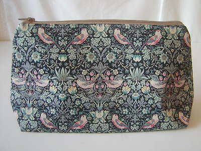 Handmade in Liberty of London Strawberry Thief Tana Lawn Fabric Cosmetic bag