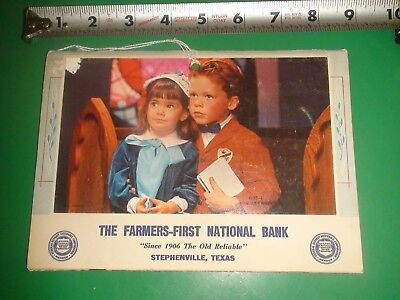 JE290 Vintage 1968 Calendar Ad The Farmers First National Bank Stephenville Tx