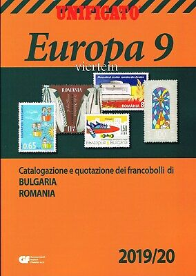 Unificato Catalogo Europa Vol. 9 Bulgaria Romania 2019/2020 Nuovo