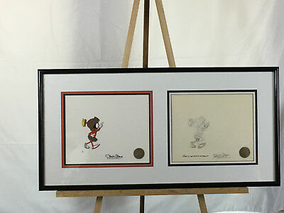 CHUCK JONES MARVIN THE MARTIAN Signed LE Cel and Animation Drawing