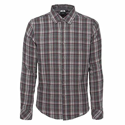 (TG. S) Jeep Man Flannel Checked Shirt Long Sleeves Camicia Maniche (b2M)