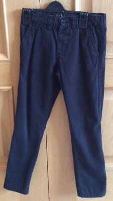 Denim Co, Boys, Black Slim Leg Trousers, age 4-5 years. Ex cond.