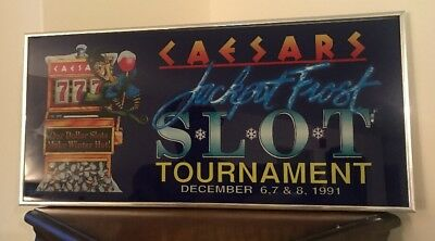 Rare Vintage Caesars Las Vegas Casino Jack Frost Slot Tournament Dec, 1991. 21 ""