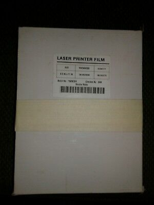 Mylar Drafting Film Double Matte Inkjet 100 micron/4 mil  8.5 x 11in
