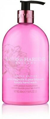 Baylis and Harding Pink Magnolia and Pear Blossom Hand Wash, 500 ml, Pack of 3
