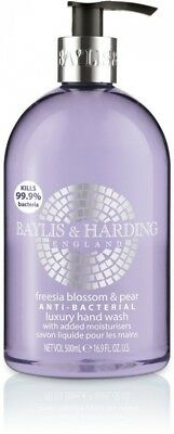Baylis and Harding Freesia Blossom and Pear Anti Bacterial Hand Wash, 500 ml, 3