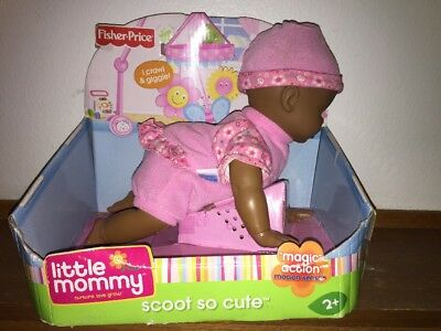 Little Mommy Scoot So Cute African American Doll - Pink Outfit - NEW/RARE!