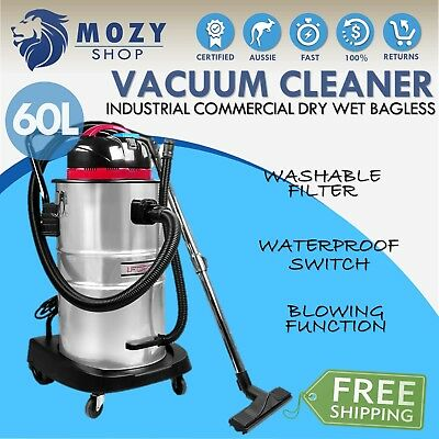 Industrial Commercial Bagless Dry Wet Vacuum Cleaner 30 or 60 L Vaccum 1400W NEW