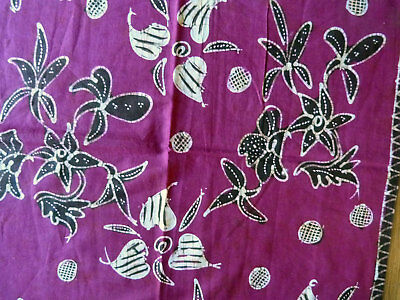 Beautiful Fully Handmade Indonesian Batik Kain Tuli Madura Old Textile Sarong