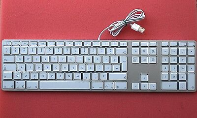Apple A1243 Aluminum Ultra Thin USB Wired Keyboard Canadian Version (20LD)