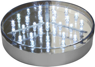 Decor Lites 15.2cm Argent Baselite avec 31 Super Brillant Led Blanc