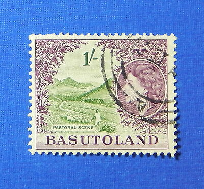 1954 Basutoland 1S Scott# 52 S.g.# 49 Used                               Cs20179
