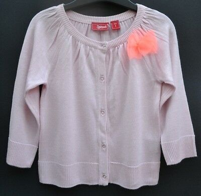 Sprout pale pink cardigan baby girl Sz 1 cotton Autumn winter spring BNWT