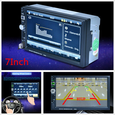 """7"""" HD Touch Screen 2 Din Car GPS Navigation Bluetooth Stereo FM Radio MP5 Player"""
