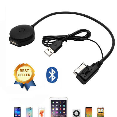 Bluetooth Music Streaming Kit iPod Media Interface Cable MMI AMI Lead For Audi