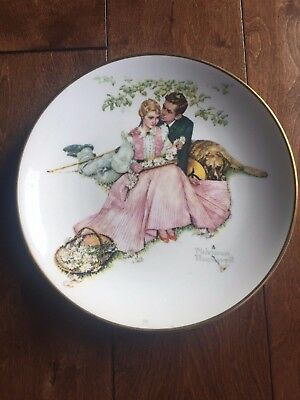 Norman Rockwell Limited Edition Collectible Plate- Flowers in Tender Bloom