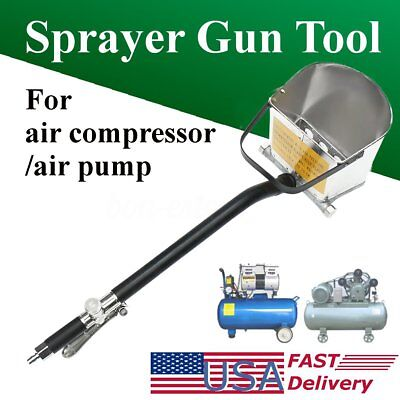 4 Jet Cement Mortar Spray Gun Sprayer Hopper Concrete Stucco Painting Wall Tool