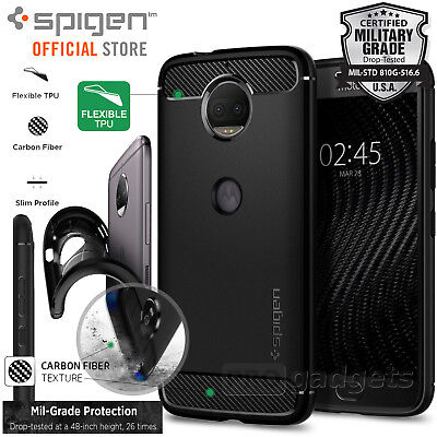 0d7d49a0113 Moto G5S Plus Case Genuine SPIGEN Rugged Armor Resilient Soft Cover for  Motorola