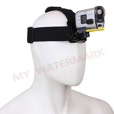 Head Belt Strap Mount+Adapter for Sony Action Camera HDR-AS15/AS20/AS30V/AS100V