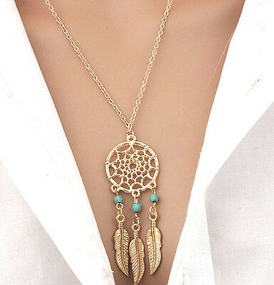 Horse & Western  Jewellery Jewelry Native Usa Dreamcatcher Necklace Gold