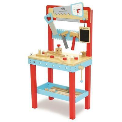 NEW Indigo Jamm Little Carpenters Bench - Kids Wooden Tool Bench Work Bench