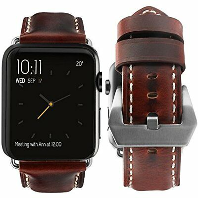 Leather Strap Bracelet Sport For Apple Watch IWatch Band 42mm Series 3 2 1 Brown