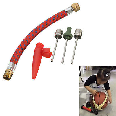 Sports Ball Inflating Air Pump Needle Pin Nozzle Soccer Basketball Football Set